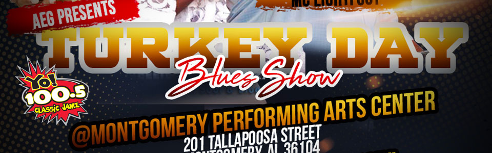 Turkey Day Blues Show at the MPAC on November 21